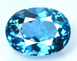 ~PRETTY~ 4.56 Cts Natural London Blue Topaz Oval Cut Brazil