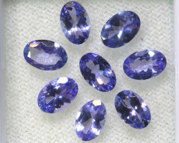 3.45CTS  TANZANITE  FACETED  STONE PARCEL  PG-3437
