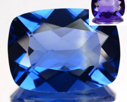 5.92 Cts Natural Color Change Fluorite 12x10mm Cushion Cut Afghanistan