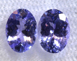1.87CTS  TANZANITE  FACETED  STONE PAIR  PG-3455