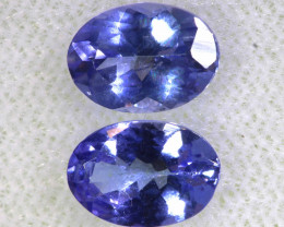 1.49CTS  TANZANITE  FACETED  STONE MATCHED PAIR  PG-3458