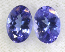 1.65CTS  TANZANITE  FACETED  STONE MATCHED PAIR  PG-3459