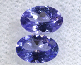 0.95CTS  TANZANITE  FACETED  STONE MATCHED PAIR  PG-3461