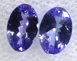 0.70CTS  TANZANITE  FACETED  STONE MATCHED PAIR  PG-3463