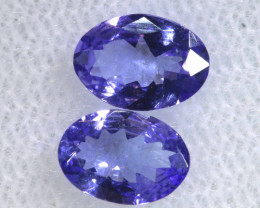 1.11CTS  TANZANITE  FACETED  STONE MATCHED PAIR  PG-3464