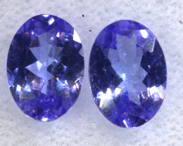 1.51CTS  TANZANITE  FACETED  STONE MATCHED PAIR  PG-3465