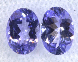 1.62CTS  TANZANITE  FACETED  STONE MATCHED PAIR  PG-3466