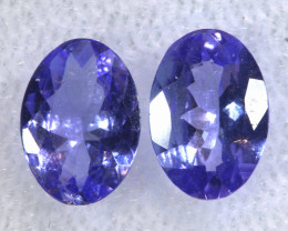1.28CTS  TANZANITE  FACETED  STONE MATCHED PAIR  PG-3470
