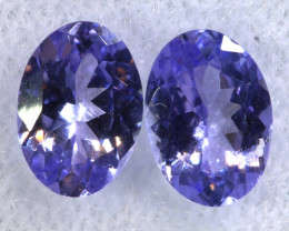 1.52CTS  TANZANITE  FACETED  STONE MATCHED PAIR  PG-3472