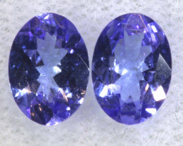 1.39CTS  TANZANITE  FACETED  STONE MATCHED PAIR  PG-3474