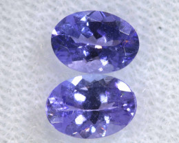 1.75CTS  TANZANITE  FACETED  STONE MATCHED PAIR  PG-3478