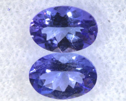 1.58CTS  TANZANITE  FACETED  STONE MATCHED PAIR  PG-3481