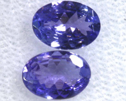 1.34CTS  TANZANITE  FACETED  STONE MATCHED PAIR  PG-3782
