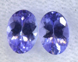 1.30CTS  TANZANITE  FACETED  STONE MATCHED PAIR  PG-3483
