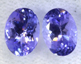 1.72CTS  TANZANITE  FACETED  STONE MATCHED PAIR  PG-3484