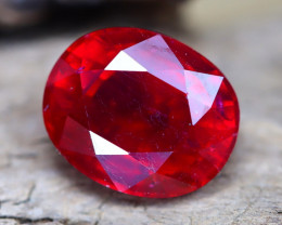 Red Ruby 5.85Ct Oval Cut Blood Red Ruby A0207
