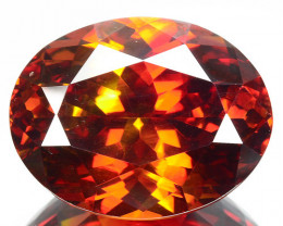 ~RAREST~ 30.89 Cts Natural Sphalerite Sparkling Red Oval Cut Spain