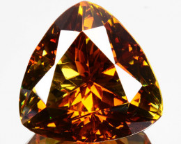 Bi - Color 24.96 Cts Unheated Natural Sphalerite Trillion Cut Spain (Video