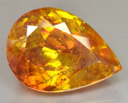 RARE!! 24.60 Cts Marvelous Natural  Sunset Orange Sphalerite Pear Cut Spain