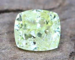 Greenish Yellow Diamond 0.15Ct Natural Fancy Diamond B0214