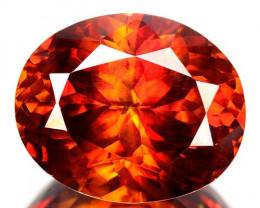 RARE!! 7.80 Cts Natural Fire Sunset Red Sphalerite Oval Cut Spain Gem