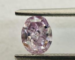 GIA Oval Shape 0.70ct Natural Fancy Pinkish Purple Loose Polished Diamond