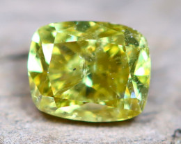 Greenish Yellow Diamond 0.27Ct Natural Fancy Diamond C0210
