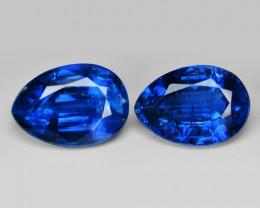 2.39 Cts 2Pcs Fancy Royal Blue Color Natural Kyanite Gemstones