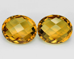 10.30 Cts 2 pcs Fancy Golden Yellow Color Natural Citrine Gemstone