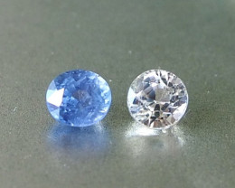 1.49ct unheated white and blue sapphire