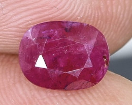 1.79 Crt Natural Ruby Faceted Gemstone.( AB 84)