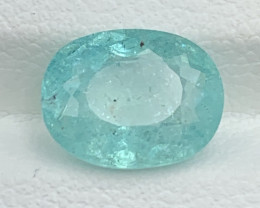 Paraiba GFCO Certified 2.31 Carats Natural Color Paraiba  Tourmaline Gemsto