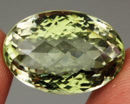 26.08 ct. 100% Natural Earth Mined Unheated Top Nice Green Amethyst Brazil