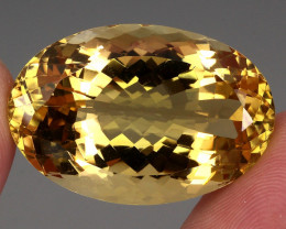 62.95 ct. 100% Natural Earth Mined Unheated Top Yellow Golden Citrine Braz