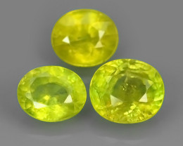 2.30 CTS NATURAL GREENISH-YELLOW SPHENE PARCEL 3 PCS~EXCELLENT!!
