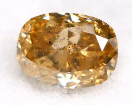 Champagne Diamond 0.21Ct Untreated Genuine Fancy Diamond AT0201