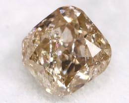 Champagne Pink Diamond 0.33Ct Untreated Genuine Fancy Diamond AT0205