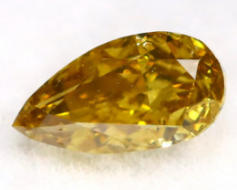 Yellowish Green Diamond 0.21Ct Untreated Genuine Fancy Diamond AT0206