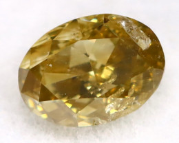 Brownish Green Diamond 0.22Ct Untreated Genuine Fancy Diamond AT0207