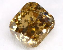 Champagne Diamond 0.19Ct Untreated Genuine Fancy Diamond AT0208