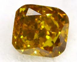 Yellowish Green Diamond 0.11Ct Untreated Genuine Fancy Diamond AT0209