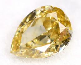 Yellow Diamond 0.15Ct Untreated Genuine Fancy Diamond AT0210