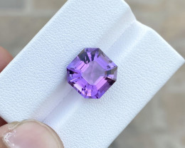 5.90 Ct Natural Purplish Transparent Amethyst Gemstone