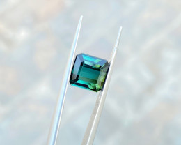 3.10 Ct Natural Greenish Blue Transparent Tourmaline Gemstone