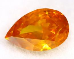 Intense Orange Diamond 0.18Ct Untreated Genuine Fancy Diamond AT0225