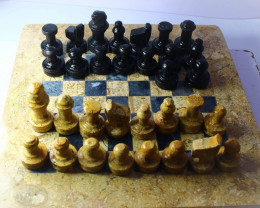 7020 CT Natural Onyx Carved Chess Board Shape