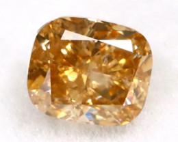 Champagne Diamond 0.32Ct Untreated Genuine Fancy Diamond AT0405