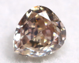 Champagne Pink Diamond 0.16Ct Untreated Genuine Fancy Diamond A0306