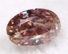 Champagne Purple Diamond 0.10Ct Untreated Genuine Fancy Diamond A0310