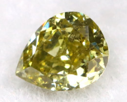 Green Diamond 0.11Ct Natural Fancy Diamond B0302